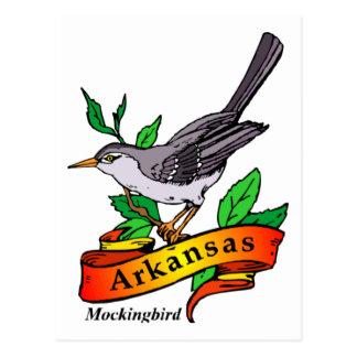 arkansas mockingbird postcard