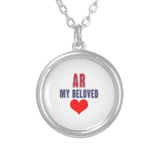 Arkansas my beloved silver plated necklace