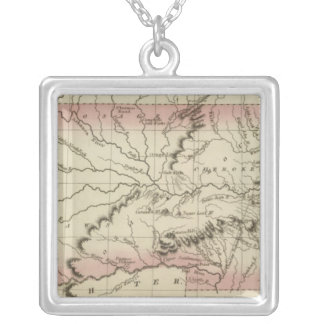 Arkansas, Oklahoma Silver Plated Necklace