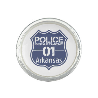 Arkansas Police Department Shield 01 Photo Rings