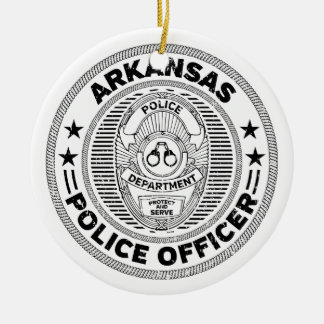 Arkansas Police Officer Ceramic Ornament