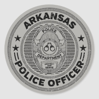 Arkansas Police Officer Classic Round Sticker