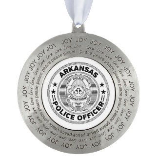Arkansas Police Officer Pewter Ornament