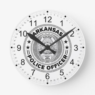 Arkansas Police Officer Round Clock