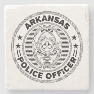 Arkansas Police Officer Stone Coaster