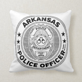 Arkansas Police Officer Throw Pillow