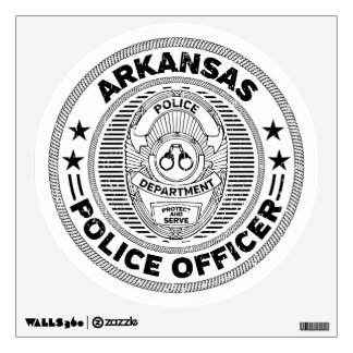 Arkansas Police Officer Wall Sticker