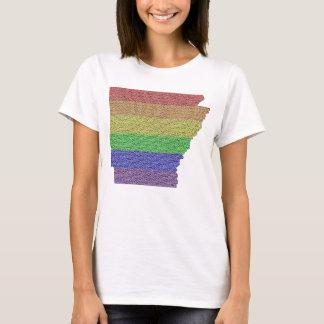 Arkansas Rainbow Pride Flag Mosaic T-Shirt