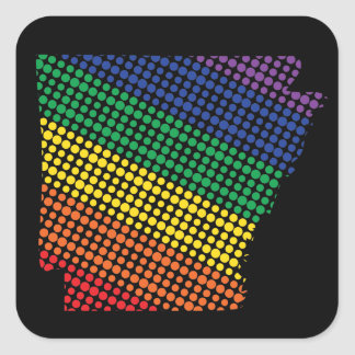 Arkansas Rainbow State Square Sticker