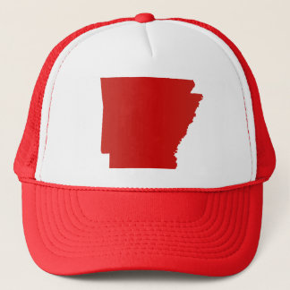 Arkansas Red Snap Back Mesh Trucker Hat
