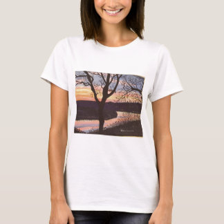 Arkansas River Sunset Painting T-Shirt