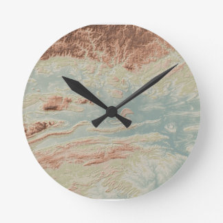 Arkansas River Valley- Classic Style Round Clock