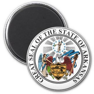 Arkansas Seal 2 Inch Round Magnet