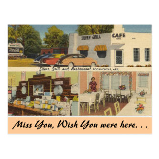 Arkansas, Silver Grill & Cafe Postcard