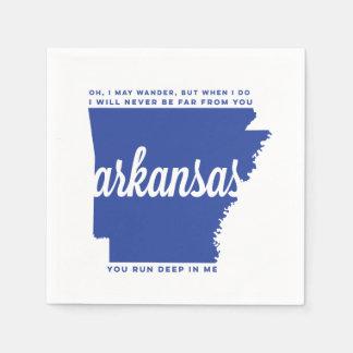 arkansas | song lyrics | blue disposable napkin