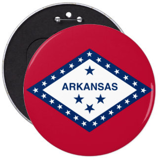 Arkansas State Flag 6 Inch Round Button