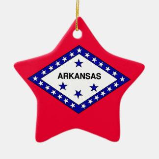Arkansas State Flag Ceramic Ornament