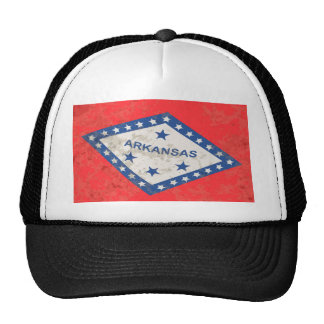 Arkansas State Flag Grunge Trucker Hat