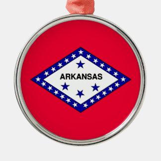 Arkansas State Flag Metal Ornament