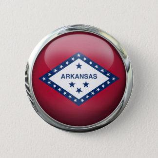 Arkansas State Flag Round Glass Ball 2 Inch Round Button