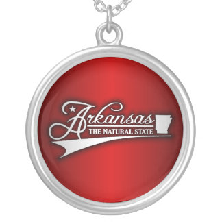 Arkansas State of Mine Silver Plated Necklace