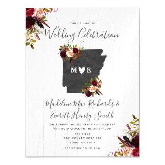 Arkansas State Rustic Magnetic Wedding Invitation