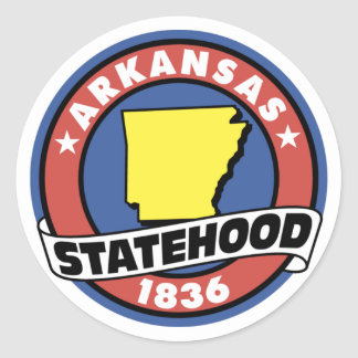 Arkansas Statehood Gifts and Tees Classic Round Sticker
