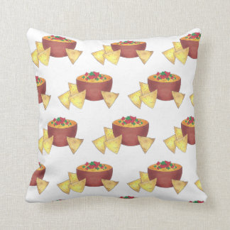 Arkansas Style Cheese Dip Nacho Chips Foodie Snack Throw Pillow