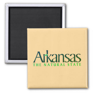 Arkansas The Nature State Square Magnet