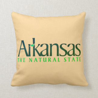 Arkansas The Nature State Throw Pillow