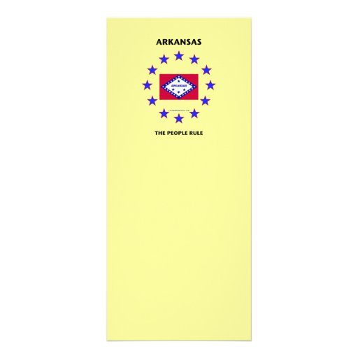 Arkansas The People Rule Custom Rack Card