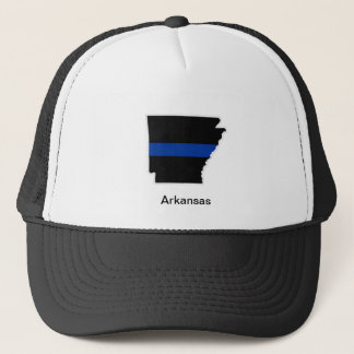Arkansas Thin Blue Line Trucker Hat