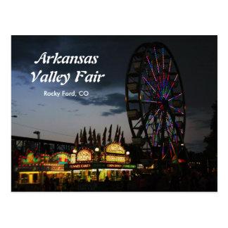 Arkansas Valley Fair at Night Postcard