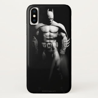 Arkham City | Batman Black and White Wide Pose iPhone X Case
