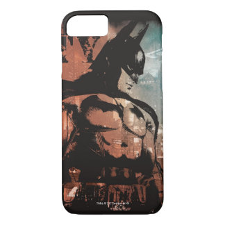 Arkham City Batman mixed media iPhone 8/7 Case