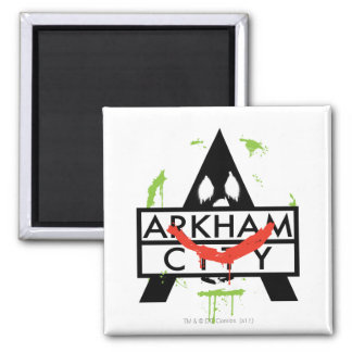 Arkham City Icon w/ Joker marks 2 Magnet