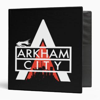 Arkham City Logo White Binder