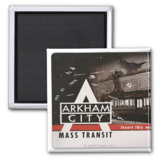 Arkham City Mass Transit Pass Magnet
