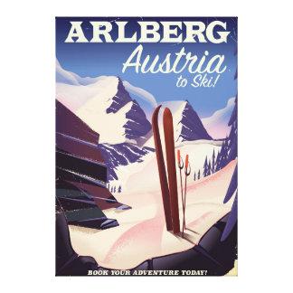 Arlberg Austria ski travel poster Canvas Print