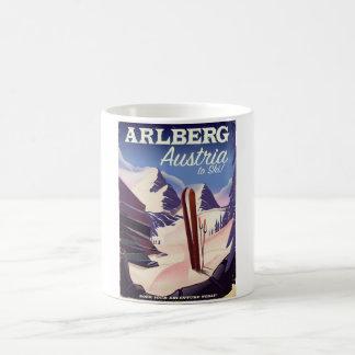 Arlberg Austria ski travel poster Coffee Mug