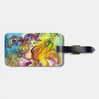 ARLECCHINA  VIOLINIST / Venetian Carnival Night Luggage Tag