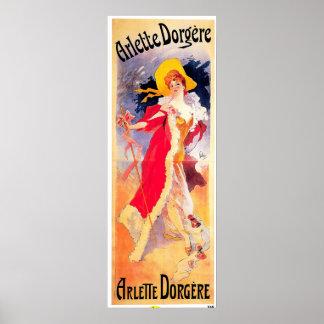 Arlette Dorgere 1904 ~ Vintage Poster