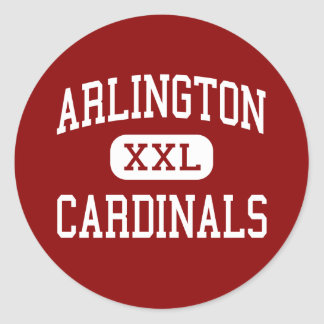 Arlington - Cardinals - High - Arlington Heights Classic Round Sticker
