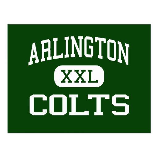Arlington - Colts - High School - Arlington Texas Postcards