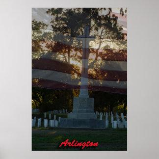 Arlington Nat. Cem. with flag Poster