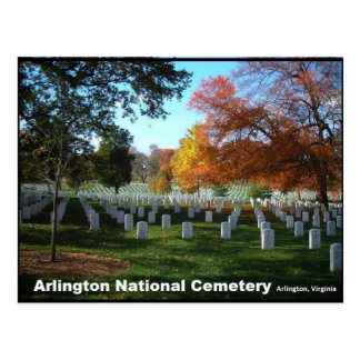 Arlington National Cemetery in Autumn Postcard