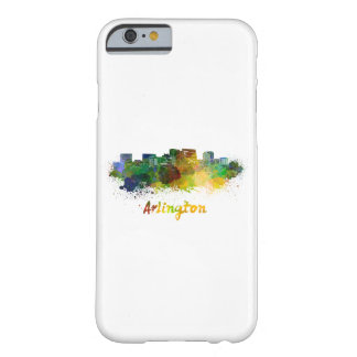 Arlington skyline in watercolor barely there iPhone 6 case