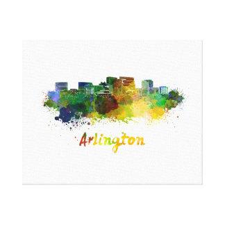 Arlington skyline in watercolor canvas print
