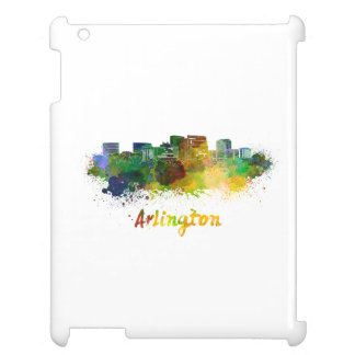 Arlington skyline in watercolor cover for the iPad 2 3 4