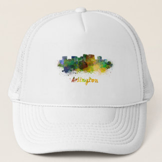 Arlington skyline in watercolor trucker hat